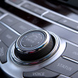 Car audio controls — Stock Photo