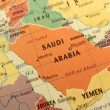 Stock Photo: Saudi Arabimap on globe