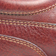 Leather stitches - Stock Photo