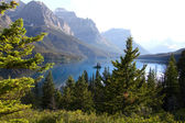 St Mary lake — Stock Photo
