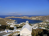 View of the island of Ios in Cyclades, Greece — Stock Photo
