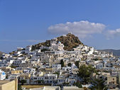 View of the Traditional village of Ios in the Aegean, — Stock Photo