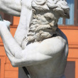 Neptune fountain in Navona Square - Stock Photo
