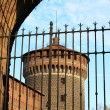 Milan castle bastion - Stock Photo
