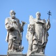 Statues on the top of Saint John Lateran Basilica — Lizenzfreies Foto