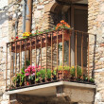 Medieval balcony — Stock Photo