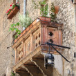 Medieval balcony — Stock Photo