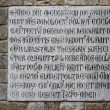Ancient latin inscription - Stock Photo