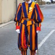 Swiss Guard in Vatican city - Stock Photo