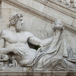 Statue in Campidoglio Square, Rome — Stock Photo