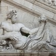 Statue in Campidoglio Square, Rome - Stock Photo