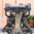Turtle fountain in Rome — Stock Photo