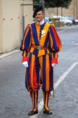 Swiss Guard in Vatican city — Stock Photo