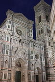Florence cathedral by night — Stock Photo