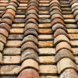 Old red roof clay tiles - Stock Photo