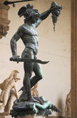 Perseus holding the head of Medusa — Stock Photo