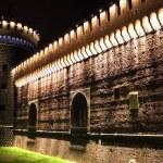 Sforzesco castle by night — Stock Photo #8127582