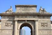 Garibaldi gate in Milan — Stock Photo