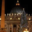 Saint Peter Basilica in Christmas time - Stok fotoraf