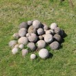 Stock Photo: White stone cannonballs