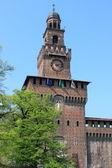 Tour principale du château des sforza — Photo