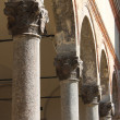 Stock Photo: Columns in row inside church