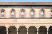 Medieval cloister — Stock Photo