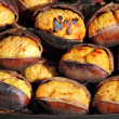 Stock Photo: Grilled chestnuts