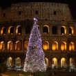 Colosseum by night in Christmas time — Stock Photo #8378828