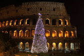 Colosseum by night in Christmas time — Stock Photo