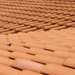 Red roof clay tiles — Stock Photo #8556294