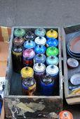 カラー スプレー缶します。 — ストック写真
