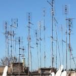 TV antennas — Stock Photo