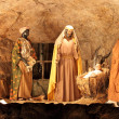 Three Magi and Jesus Christ scene — Stock Photo