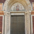 Royalty-Free Stock Photo: Entrance door of a romanic style church