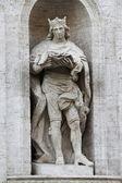 Standbeeld van saint louis — Stockfoto
