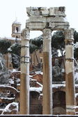 Forum romain sous la neige — Photo