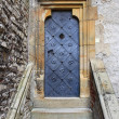 Medieval front door in Prague — Stock Photo
