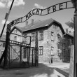 Stock Photo: Entrance gate to Auschwitz concentration camp