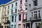 Notting Hill houses — Stock Photo