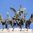 Fame driving the quadriga — Lizenzfreies Foto
