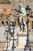 Saint Angel bridge in Rome — Stock Photo