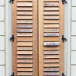 Italian style shutters - Stock Photo