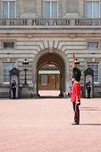 Смена караула в Букингемский дворец — Стоковое фото