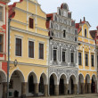 Renaissance houses in Telc — Stock Photo