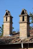 Rooftop chimneys — Stock Photo