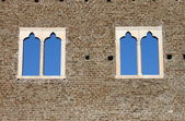 Medieval windows — Stockfoto