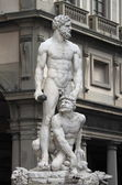 Statue of Hercules and Caucus — Stock Photo