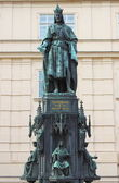 Statue of King Charles IV — Stock Photo