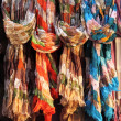 Stock Photo: Hanging scarves